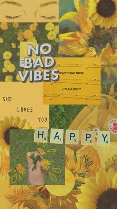 happy no bad vibes yellow green aesthetic mood board background wallpaper - Lexi. - happy no bad vibes yellow green aesthetic mood board background wallpaper – Lexi Fletcher – - Iphone Wallpaper Tumblr Aesthetic, Aesthetic Pastel Wallpaper, Colorful Wallpaper, Aesthetic Backgrounds, Aesthetic Wallpapers, Wallpaper Flower, Sunflower Wallpaper, Shades Of Yellow Color, Green Colors