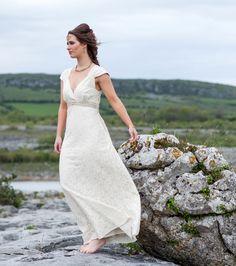 Romance Wedding Dress, custom made, Celtic Wedding Dress, Celtic Wedding Dress, Woodland Dress, Rustic Bride, Folk Bride, nature bride by CELTICFUSIONDESIGN on Etsy