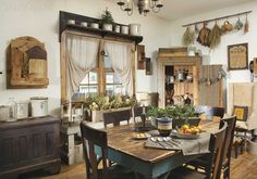 """From our January 2015 issue: In """"To Have & to Old,"""" learn how a family didn't let a little thing like building a new home derail their plans to have an authentically primitive living space. (Photographed and styled by Franklin & Esther Schmidt) Order the issue: http://www.samplermagazines.com/detail.html?prod_id=148&cat_id=8"""