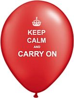 British Keep Calm and Carry On Latex Balloons - perfect for a party!