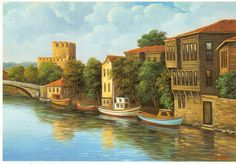 https://flic.kr/p/zhC3Bh | Postcrossing TR-239324 | Postcard with the painting of the area of the Anadolu Hisari fortress in Istanbul, sent by a Postcrosser in Turkey.