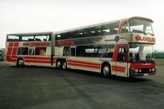 Vintage Double-Decker Articulated Bus