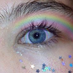Find images and videos about aesthetic, eyes and eye on We Heart It - the app to get lost in what you love. Makeup Goals, Makeup Inspo, Makeup Art, Makeup Inspiration, Beauty Makeup, Hair Makeup, Festival Make Up, Ft Tumblr, Rainbow Aesthetic