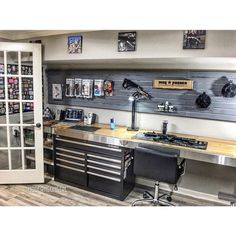 "980 Likes, 27 Comments - @moderngungirl on Instagram: ""Sometimes you just have to stop what you are doing & turn around & appreciate how far you've come…"" Garage Shop, Garage House, Diy Garage, Weapon Storage, Gun Storage, Airsoft Storage, Storage Room, Workshop Ideas, Garage Workshop"