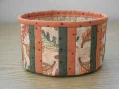 Quilted Fabric Bowl Fall Leaves TGbowlH by cedarpointdesigns