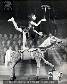 Jubiliee the Circus - Jubiliee the Circus Horse; Waldo Lanchester; 1930's; 00012 - The National Puppetry Archive on eHive --- #Theaterkompass #Theater #Theatre #Puppen #Marionette #Handpuppen #Stockpuppen #Puppenspieler #Puppenspiel