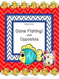The Gone Fishing with Opposites Center Game created by The Primary Place is ideal for Pre-K - 1st grade. There are 12 pages in this PDF file. You can make this a center or create enough for the class to do this activity at the same time in small groups.