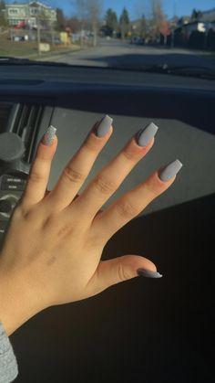 Mar 2020 - grey acrylic nails – White Acrylic Nails - Water - Short acrylic nails coffin - . Simple Acrylic Nails, Acrylic Nails Coffin Short, Summer Acrylic Nails, Best Acrylic Nails, Acrylic Nail Designs, Nail Art Designs, Nails Design, Acrylic Art, Short Square Acrylic Nails