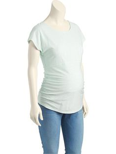 Maternity Button-Back Tee (Size M)