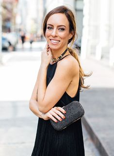 Little black clutch  Eight Twirly Little Black Dresses Inspired By My Fashion Party Fringe – Sydne Style