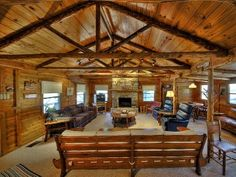 Fredericksburg Vacation Rental - VRBO 334603 - 2 BR Hill Country Cabin in TX, Beautiful Cedar Cabin Overlooking Large Pond Near Luckenbach Cedar Cabin, Texas Vacations, Rock Fireplaces, Cozy Living Rooms, Ideal Home, Condo, House Styles, Texas Travel, Recliners