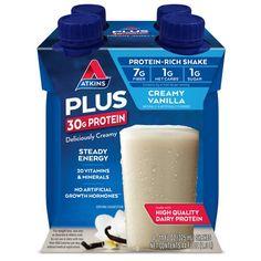 Atkins PLUS Protein & Fiber Shake, Creamy Vanilla, Keto Friendly, 11 oz., 4 Count Wrap Recipes, Sauce Recipes, Low Carb Recipes, Pork Tenderloin Medallions, Cauliflower Risotto, Mashed Cauliflower, Pimento Cheese Recipes, Creamy Mustard Sauce, Keto Taco