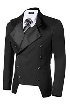 Coofandy Men's Casual Double-breasted Jacket Slim Fit Bla... http://smile.amazon.com/dp/B017YHV79O/ref=cm_sw_r_pi_dp_2EUixb126A24C