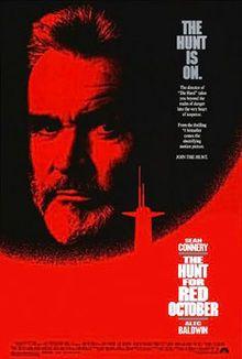 The Hunt for Red October - starring Sean Connery, Alec Baldwin, Scott Glenn, James Earl Jones and Sam Neill.
