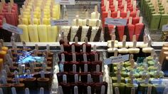 Gorgeous display of gourmet popsicles