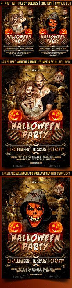 Halloween Party Flyer Template #design Download: http://graphicriver.net/item/halloween-party-flyer/12599617?ref=ksioks