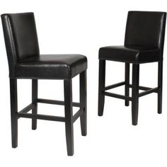 Roundhill Citylight Counter Height Barstool Set of 2, Multiple Colors Available, Brown
