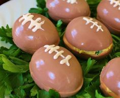 Super Bowl Party Food Ideas - Super Bowl Eggs - Click Pic for 40 Easy Super Bowl Snacks