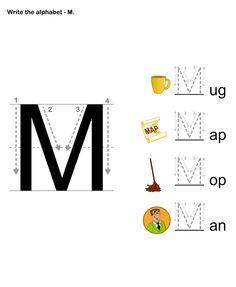 Alphabet Letter A Apple Standard Block Manuscript