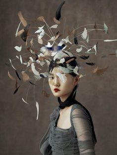 Wangy Xin Yu & The Peking Opera - Harper's Bazaar China May 2016 photo kiki xue