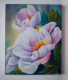 Acrylic Painting Flowers, Acrylic Art, Acrylic Painting Canvas, Watercolor Flowers, Watercolor Paintings, Canvas Art, Poster Color Painting, Arte Floral, Beautiful Paintings