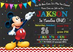 Cumpleaños de invitación de Mickey Mouse Mickey por OurLittleFunny