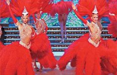 Moulin Rouge Dinner and Show, starting $160.00 EUR! Le Bal du Moulin Rouge is the prestigious Cabaret of Paris with 60 Doriss Girls, 1000 new costumes of feathers, rhinestones and sequins, amazing international attractions, the famous French Cancan, and the giant Aquarius are waiting for you!