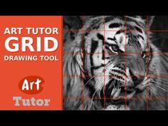 ArtTutor Grid Drawing Tool - YouTube
