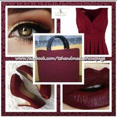 Borsa uncinetto bordeaux bolsa croche borgonha crochet bag burgundy  instagram: @tshandmadeoficialpage facebook: www.facebook.com/tshandmadeoficialpage/