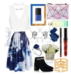 """""""Sky ☁"""" by karilooks ❤ liked on Polyvore featuring Chicwish, Senso, Henri Bendel, Hermès, House of Fraser, Harry Kotlar and Bobbi Brown Cosmetics"""