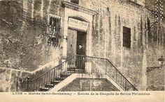Lyon, Fourvières ; Montée St- Barthélémy entrée de la chapelle de sainte Philomène