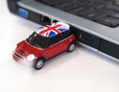 AutoDrive Mini Cooper UK Flag Car 8GB/16GB by StylishFashionGadget - I believe I NEED one of these!