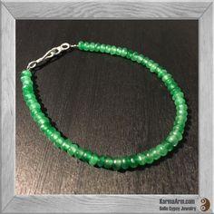 Gemstone Bracelet: Green Jade