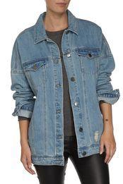 groupie denim jacket, PALE BLUE WASH