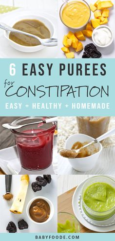 6 Baby Food Purees to Help Relieve Baby's Constipation Treating and preventing constipation in babies and infants is something every parent struggles with. These 6 Baby Food Purees are an all natural Massage Bebe, Baby Massage, Baby Puree Recipes, Pureed Food Recipes, Pea Baby Food, Baby Food For Constipation, Baby Constipation Remedies, Relieve Constipation, Gourmet