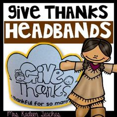 Free- Thanksgiving crowns . Teach your kiddos ways to be thankful during this season and all the time.