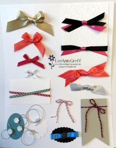 In this video I'll share some of my favorite ways to add ribbon to my projects; plus a tutorial on bow tying!