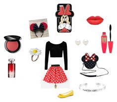 """""""Dress casually like Minnie"""" by lyvj on Polyvore featuring Boohoo, Dorothy Perkins, Loungefly, Disney, Forever 21, Tiffany & Co., Lancôme, Bobbi Brown Cosmetics and Maybelline"""