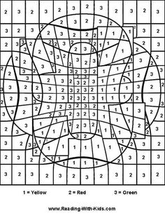 Color-by-letter and color-by-number coloring pages are fun and ...