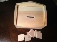 Square coin box w $5 hobby lobby hinge box