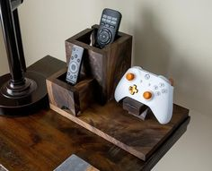 Remote Caddy & Controller Stand/ End Table Organizer/ Desk Organizer/ Xbox Controller Stand/ Playstation Controller Stand / Playstation, Ps4, Remote Caddy, Remote Control Holder, Home Music, Gaming Room Setup, Game Storage, Video Game Rooms, Woodworking Inspiration