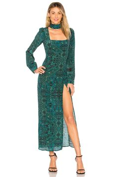 Stone Cold Fox Melrose Gown In Green Carpet Green Evening Dress, Evening Dresses With Sleeves, Stone Cold Fox, Green Carpet, Silk Dress, Cold Shoulder Dress, Gowns, Clothes, Shopping