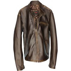 R79 Leather Jacket Distressed Brown