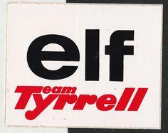 ELF TEAM TYRRELL F1 TEAM ORIGINAL PERIOD STICKER ADESIVO AUFKLIEBER STEWART RARE