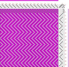 Hand Weaving Draft: rosey zigzag twill, Another twill variation drafted with Pixeloom., 4S, 6T - Handweaving.net Hand Weaving and Draft Archive