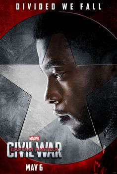Team 'Captain America: Civil War' Movie and Character Posters revealed Team Ironman: Civil War Short on Spiderman black_panther_captain_america_movie_civil_war_character_poster