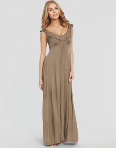 Athena frill maxi dress by figleaves beachwear at figleaves.com