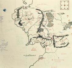 annotated map of middle earth acquired by bodleian library childrens book council