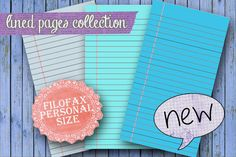 Blue lined pages, Planner printable blue,planner pages, lined personal size, blue refill planner, blue pages, instant download ! by Sorocashop on Etsy