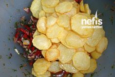 Kızarmış Patates Salatası Tarifi - Nefis Yemek Tarifleri Snack Recipes, Snacks, Pasta, Chips, Food, Ss, Rezepte, Snack Mix Recipes, Appetizer Recipes